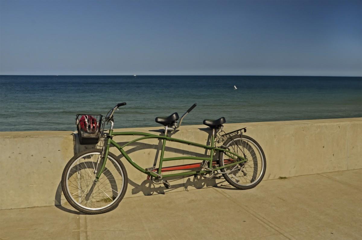 Bike on the wall Martha's Vineyard