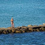 Girl fishing in Oaks Bluff